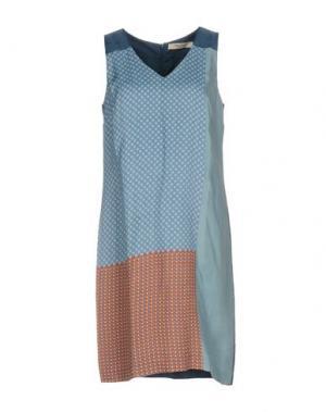 Короткое платье NICE THINGS BY PALOMA S.. Цвет: небесно-голубой