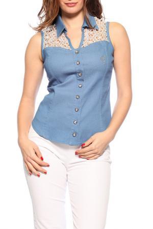Рубашка GUITAR. Цвет: blue