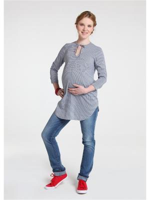 Блузка Мамуля красотуля. Цвет: синий