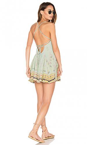 Мини платье st. kitts Cleobella. Цвет: зеленый