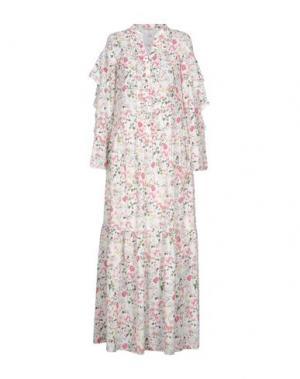 Длинное платье PAOLO CASALINI. Цвет: белый