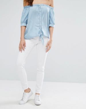 Noisy May Зауженные джинсы Paris. Цвет: белый