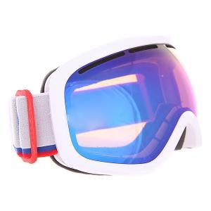 Маска для сноуборда  Sky Chrome Von Zipper. Цвет: белый,синий