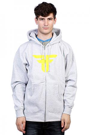 Толстовка  Trademark Hood Heat Grey/Fluro Yellow Fallen. Цвет: серый