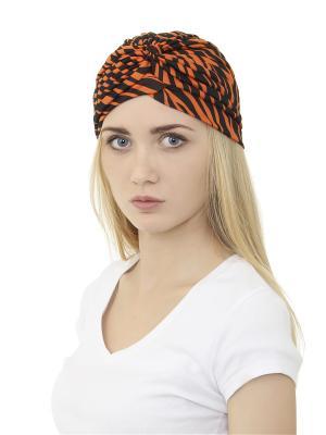 Тюрбан Olere. Цвет: оранжевый, черный