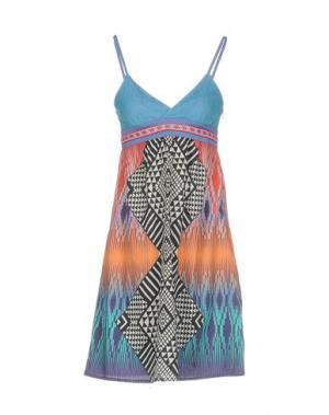 Короткое платье CUSTO BARCELONA. Цвет: темно-синий