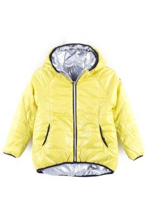 Куртка Coccodrillo. Цвет: желтый, белый