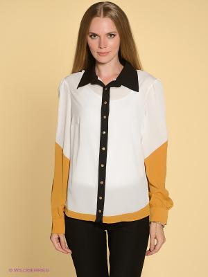 Блузка TOPSANDTOPS. Цвет: желтый