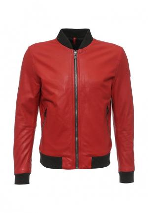 Куртка кожаная Joop!. Цвет: красный