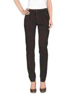 Повседневные брюки PRAIO. Цвет: темно-коричневый