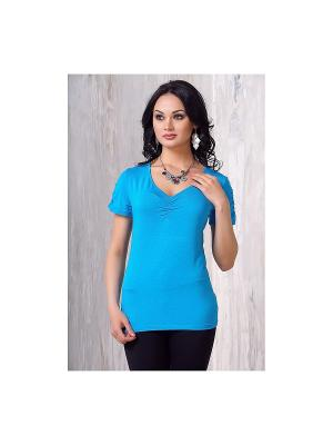 Блузка VAY. Цвет: голубой