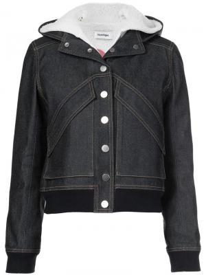 Джинсовая куртка с капюшоном Courrèges. Цвет: синий