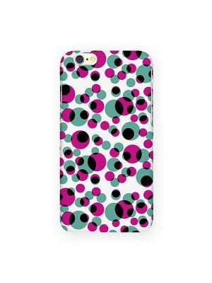 Чехол для IPhone 6 Цветные кружки Mitya Veselkov. Цвет: фуксия, зеленый