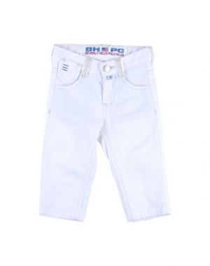 Джинсовые брюки BEVERLY HILLS POLO CLUB. Цвет: белый