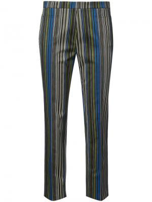 Укороченные брюки в полоску Akris Punto. Цвет: синий