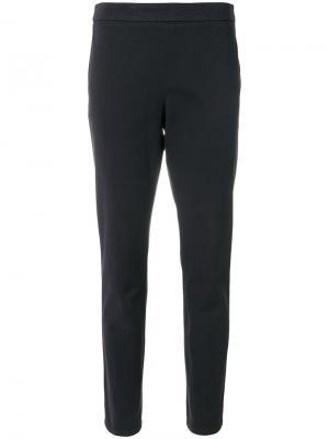 Классические укороченные брюки Fabiana Filippi. Цвет: синий