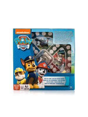 Настольная игра с кубиком и фишками Щенячий Патруль SPIN MASTER. Цвет: голубой