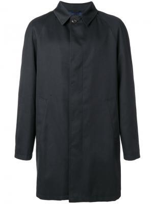 Пальто на пуговицах Sealup. Цвет: синий