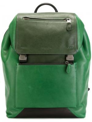 Классический рюкзак Coach. Цвет: зелёный