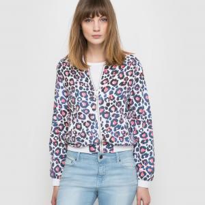 Куртка STANLEY, двусторонняя (однотонная/с рисунком) ELEVEN PARIS. Цвет: рисунок розовый/синий