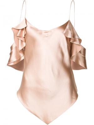 Diamond camisole top Juan Carlos Obando. Цвет: розовый и фиолетовый
