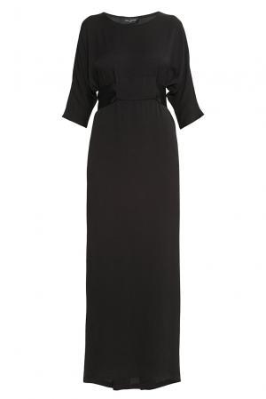 Платье из вискозы с поясом 176873 Cyrille Gassiline. Цвет: черный