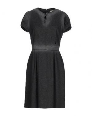 Платье до колена ROBERTA SCARPA. Цвет: свинцово-серый