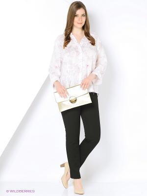 Блуза Open End. Цвет: белый, лиловый