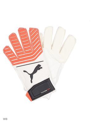 Вратарские перчатки One Grip 17.4 PUMA. Цвет: белый, коралловый