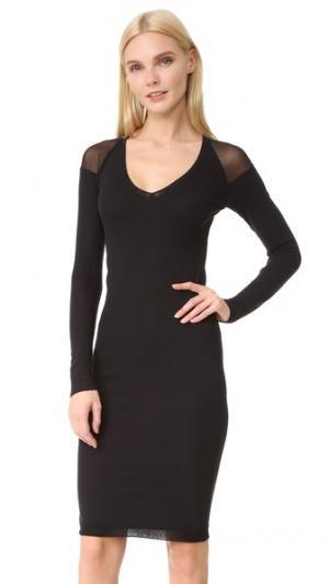 Платье с длинными рукавами и V-образным вырезом Fuzzi. Цвет: голубой
