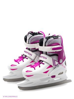 Коньки X-Match. Цвет: белый, розовый