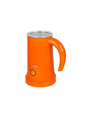 Вспениватель молока OURSSON. Цвет: оранжевый