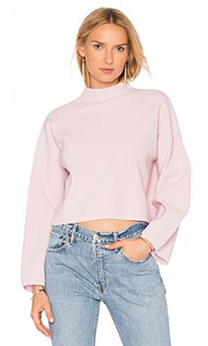 Прямой свитер с широкими рукавами Autumn Cashmere. Цвет: розовый