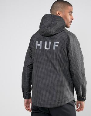 HUF Легкая куртка Flynn. Цвет: черный
