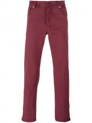 Узкие брюки Kiton. Цвет: красный