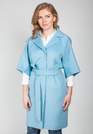 Пальто SHARTREZ. Цвет: голубой