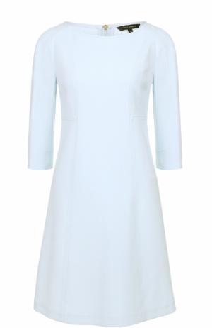 Платье прямого кроя с укороченным рукавом Tara Jarmon. Цвет: голубой
