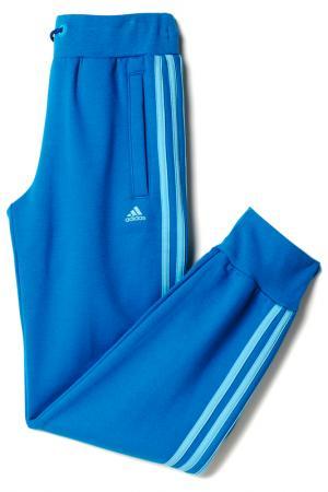 Трикотажные брюки спорт. adidas. Цвет: голубой