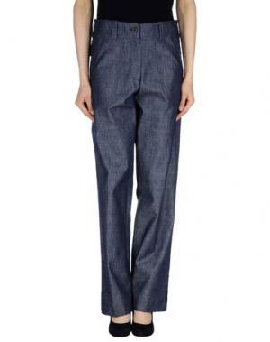 Джинсовые брюки DANIELA PANCHERI. Цвет: синий