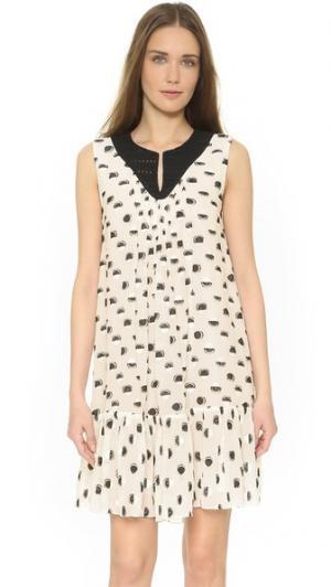 Платье без рукавов Thakoon. Цвет: черный/кремовый