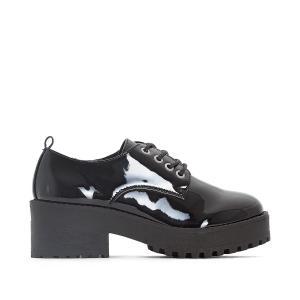 Ботинки-дерби на каблуке Suki COOLWAY. Цвет: черный