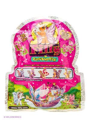 Лошадка коллекционная Filly Бабочки с блестками Dracco. Цвет: розовый