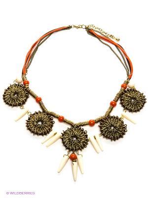 Ожерелье ГАНГ. Цвет: бронзовый, красный