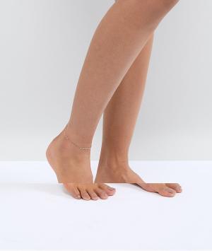 ASOS Браслет на ногу ограниченной серии. Цвет: медный