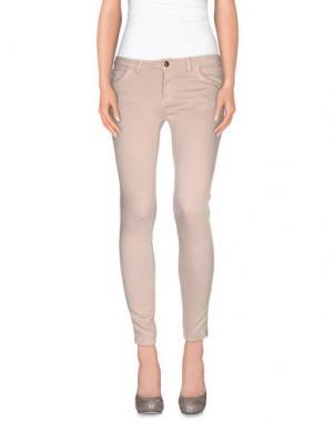 Повседневные брюки ANIYE BY. Цвет: телесный