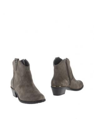Полусапоги и высокие ботинки PRETTY NANÃ. Цвет: серый