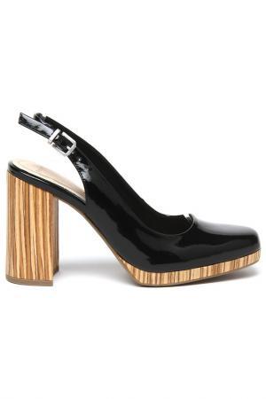Туфли с ремешками Marco Tozzi. Цвет: черный