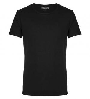 Черная хлопковая футболка с короткими рукавами Bread&Boxers. Цвет: черный