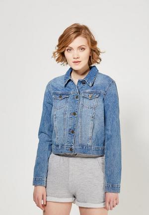 Куртка джинсовая Roxy. Цвет: голубой