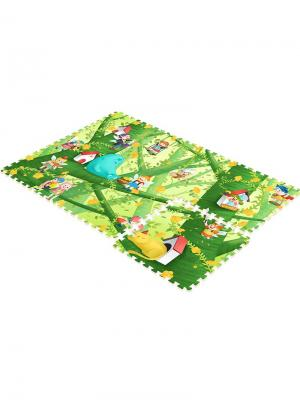 Детский коврик-пазл  Лесные эльфы 180х120х2 Mambobaby. Цвет: голубой